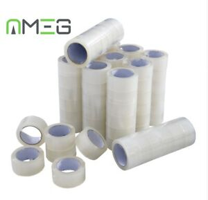 Clear Tape Strong Parcel Tape Packing sellotape Packaging Sealing 48mm x 60m