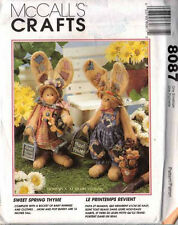 "BUNNY DOLL Pattern 16 "" Spring THYME Mom & Pop with Bucket of BUNNIES"