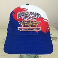 BRICKYARD 400 - Vtg 1996 Red White Blue Logo 7 SnapBack NASCAR Racing Hat Cap
