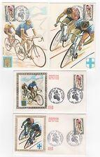 FRANCE 4 FDC enveloppes 1er jour cyclisme championnat du Monde 1972  /FDC105