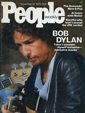 Bob Dylan People Magazine Nov 1975 #X2693 Beautiful Condition