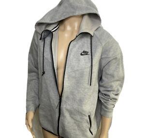 Nike Tech Fleece Jacket Gray Hoodie Windrunner Full Zip 545277-065 Men Sz XL