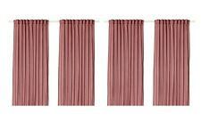 """Ikea VIVAN Curtains 4 Panels (2 pairs) 57"""" x 98"""" Pink - NEW in Package"""