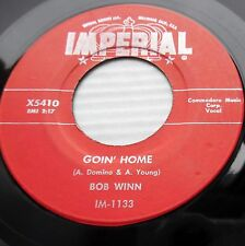 BOB WINN Goin home How it hurts me 1956 TEEN Pop 45 with group  e7043