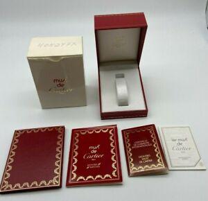 Must de Cartier Watch box case 544 Booklet guarantee rare #569