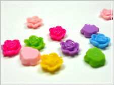20 Resin Kunstharz Cabochon 15x7mm Farbmix Rosen Mix Perlen