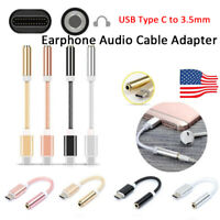 USB TypeC to 3.5mm Headphone Aux Audio Jack Earphone Cable Adapter For Huawei-RO