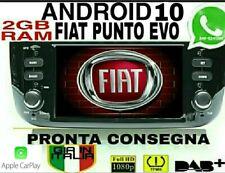 AUTORADIO ANDROID 10.0 Wi-FI FIAT PUNTO EVO  2GB RAM   navigatore SCHEMO HD