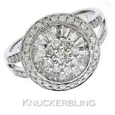 Diamond Cluster Ring 1.00ct Brilliant Cut F VS set in 18ct White Gold