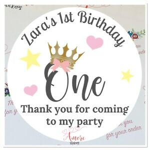 24 Personalised Birthday Stickers thank you for coming to my party Birthday