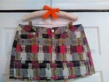 CANDIES Juniors Pink & Green Plaid Mini Skirt w/ Floral Stitching| Size 13| Cute