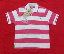 STUNNING BURBERRY PINK & WHITE BOYS POLO SHIRT COTTON 4 YRS 104cm OTHER COLOURS