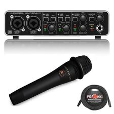 Behringer U-PHORIA UMC204HD USB 2.0 Audio Interface with enCore 200 Vocal mic
