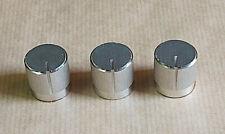 Trois boutons alu 19x19mm,Bass/Treble/Balance.Pièce détachée SONY TA-1630.