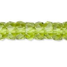 20 Czech Glass 6mm x 3mm Faceted Fire Polished Round Rondelle Spacer Beads