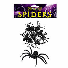 Halloween Decoration 9 Pack 8cm Scary Spiders