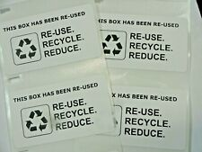 500 Qty This Box Has Been Re Used Recycle Reduce Shipping Label Stickers Small