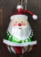 New Hand Blown Glass Christmas Tree Ornaments Santa Clause Ball Fat Funky