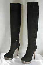 772a15712d6 LE SILLA HIGH HEEL BLACK SUEDE OVER THE KNEE BOOTS EU