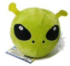 Squeezamals Allen Alien Little Green Man Plush Toy Embroidered Round 3.5 inch