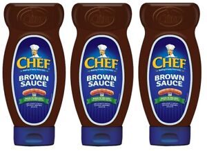 Chef Squeezy Brown Sauce 485g - from Ireland (Pack of 3)