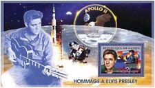 Elvis Presley space Moon landing Apollo 11 s/s Guinea 2006 Mi.Bl.994 #GU0604b