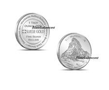 Moneda 1 Oz Matterhorn Plata Silver SC UNC Coin Suisse Gold Suiza 2011 999