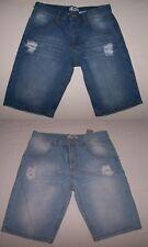 Jungen Mädchen Jeans Bermuda Shorts kurze Hose blau 170 NEU