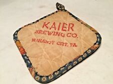 Kairs Brewing Co. Mahanoy City Pa Brewery Vintage Beer Coaster Pot Holder