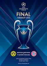 BAYERN MUNICH v BORUSSIA DORTMUND Champions League Final 2013 PROGRAMME football