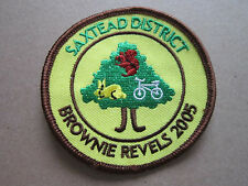 Saxtead District Brownie Revels 2005 Girl Guides Woven Cloth Patch Badge