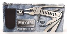 "NEW "" MAXAM Pliers Plus "" 14 Usable Functions Tool Heavy-Duty Lifetime Warranty"