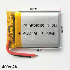 400mAh 3.7V Li ion Li-Polymer Battery For MP3 MP4 GPS PSP bluetooth 502535