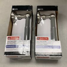 Lot of 2 Delta Greenwich Toilet Paper Holders in Brushed Nickel