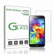 Galaxy S5 amFilm Tempered Glass Screen Protector for Samsung Galaxy S5 (1 Pack)