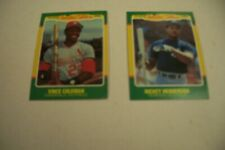 2 different 1986 Fleer Limited Edition baseball cards – Rickey Henderson