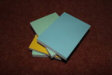12 x A7 plain notepads with card back and coloured card front