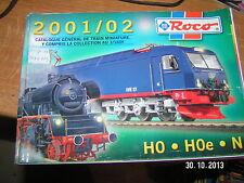 !!! Catalogue ROCO 2001/02 Ho Hoe N En Français + tarif