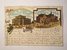 Gruss aus Leipzig - Converthaus - Buchhändler-Börse - 1900 / AK