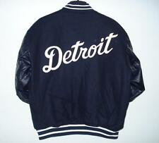 Size M MLB DETROIT TIGERS Wool Body & LEATHER Sleeves REVERSIBLE JACKET M