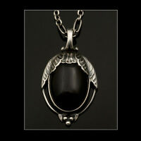 Georg Jensen Silver Pendant Of The Year 2010 With Black Agate - Heritage