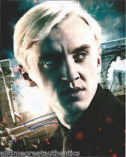 ACTOR TOM FELTON SIGNED HARRY POTTER 8X10 PHOTO W/COA DRACO MALFOY A