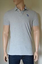 NUOVO Abercrombie & Fitch goodnow Mountain Polo grigio chiaro MOOSE XXL Rrp £ 72