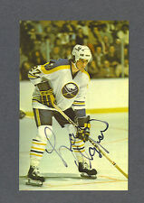 Larry Playfair signed Buffalo Sabres vintage Dexter Press Postcard