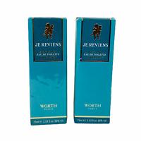 JE Reviens by Worth for Women 2.53 oz Eau de Toilette Natural Spray x 2 Pack New