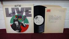 AC/DC LIVE From Atlantic Studios LP RARE PROMO Record + Letter 1978 Vinyl VG+