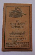 Sachet ancien d'aiguilles Steward de 50 aiguilles pour gramophone  (phonographe)
