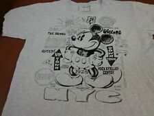 DISNEY STORE MICKEY MOUSE NEW YORK CITY BIG APPLE GRAY T-SHIRT LARGE K3