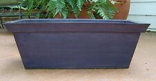 """21"""" Metal Window Box / Indoor / Outdoor Garden Container / Patio / Deck Planter"""