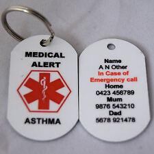 Personalised Medical Alert Keyring for Asthma